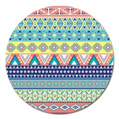 Tribal Print Magnet 5  (round) by BangZart