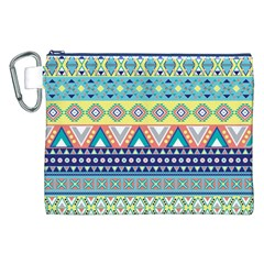 Tribal Print Canvas Cosmetic Bag (xxl) by BangZart