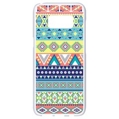 Tribal Print Samsung Galaxy S8 White Seamless Case by BangZart