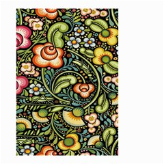 Bohemia Floral Pattern Small Garden Flag (two Sides) by BangZart