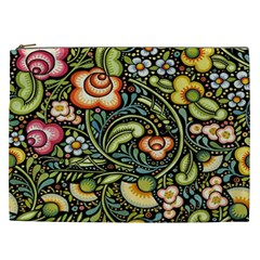 Bohemia Floral Pattern Cosmetic Bag (xxl)  by BangZart