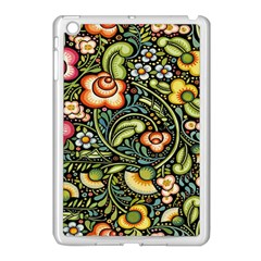 Bohemia Floral Pattern Apple Ipad Mini Case (white) by BangZart