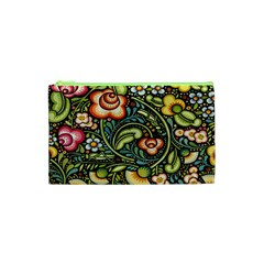 Bohemia Floral Pattern Cosmetic Bag (xs) by BangZart