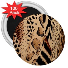 Animal Fabric Patterns 3  Magnets (100 Pack) by BangZart