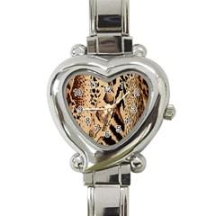 Animal Fabric Patterns Heart Italian Charm Watch by BangZart