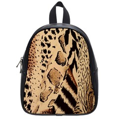 Animal Fabric Patterns School Bags (small)  by BangZart