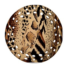 Animal Fabric Patterns Round Filigree Ornament (two Sides) by BangZart