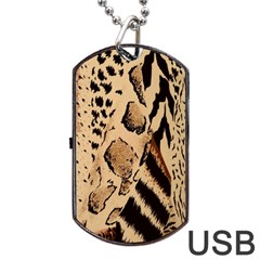 Animal Fabric Patterns Dog Tag Usb Flash (two Sides) by BangZart