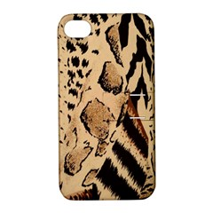 Animal Fabric Patterns Apple Iphone 4/4s Hardshell Case With Stand by BangZart