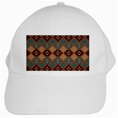 Knitted Pattern White Cap by BangZart