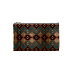 Knitted Pattern Cosmetic Bag (small)  by BangZart