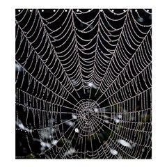 Spider Web Wallpaper 14 Shower Curtain 66  X 72  (large)  by BangZart