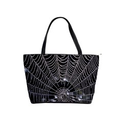 Spider Web Wallpaper 14 Shoulder Handbags by BangZart