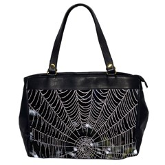 Spider Web Wallpaper 14 Office Handbags (2 Sides)  by BangZart