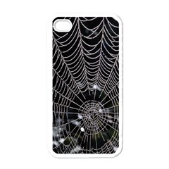 Spider Web Wallpaper 14 Apple Iphone 4 Case (white) by BangZart