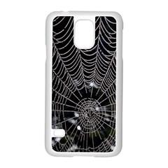 Spider Web Wallpaper 14 Samsung Galaxy S5 Case (white) by BangZart