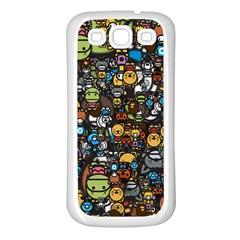 Many Funny Animals Samsung Galaxy S3 Back Case (white) by BangZart