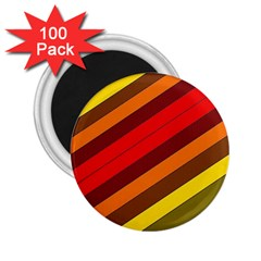 Abstract Bright Stripes 2 25  Magnets (100 Pack)  by BangZart
