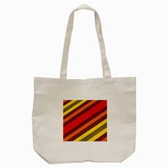 Abstract Bright Stripes Tote Bag (cream) by BangZart
