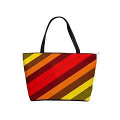 Abstract Bright Stripes Shoulder Handbags by BangZart
