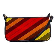 Abstract Bright Stripes Shoulder Clutch Bags by BangZart