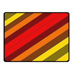 Abstract Bright Stripes Fleece Blanket (small) by BangZart