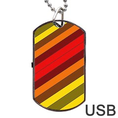 Abstract Bright Stripes Dog Tag Usb Flash (two Sides) by BangZart