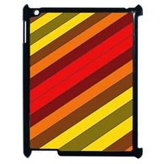 Abstract Bright Stripes Apple Ipad 2 Case (black) by BangZart
