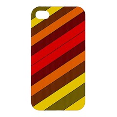 Abstract Bright Stripes Apple Iphone 4/4s Hardshell Case by BangZart
