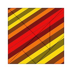 Abstract Bright Stripes Acrylic Tangram Puzzle (6  X 6 ) by BangZart