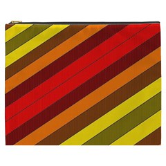 Abstract Bright Stripes Cosmetic Bag (xxxl)  by BangZart