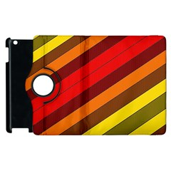 Abstract Bright Stripes Apple Ipad 2 Flip 360 Case by BangZart