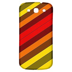 Abstract Bright Stripes Samsung Galaxy S3 S Iii Classic Hardshell Back Case by BangZart