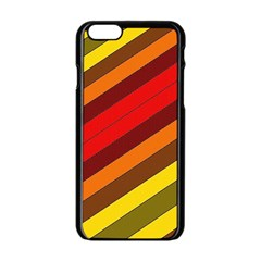 Abstract Bright Stripes Apple Iphone 6/6s Black Enamel Case by BangZart