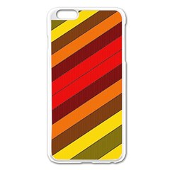 Abstract Bright Stripes Apple Iphone 6 Plus/6s Plus Enamel White Case by BangZart