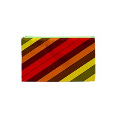 Abstract Bright Stripes Cosmetic Bag (xs) by BangZart