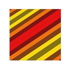 Abstract Bright Stripes Small Satin Scarf (square) by BangZart