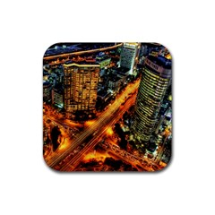 Hdri City Rubber Square Coaster (4 Pack)  by BangZart