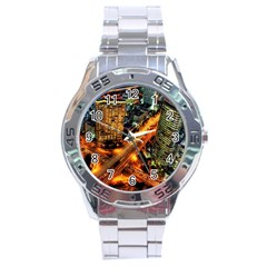 Hdri City Stainless Steel Analogue Watch by BangZart
