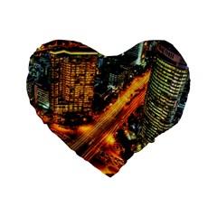 Hdri City Standard 16  Premium Heart Shape Cushions