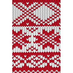 Crimson Knitting Pattern Background Vector 5 5  X 8 5  Notebooks by BangZart