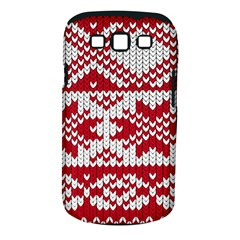 Crimson Knitting Pattern Background Vector Samsung Galaxy S Iii Classic Hardshell Case (pc+silicone) by BangZart