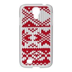Crimson Knitting Pattern Background Vector Samsung Galaxy S4 I9500/ I9505 Case (white) by BangZart