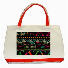 Cute Hipster Elephant Backgrounds Classic Tote Bag (red) by BangZart