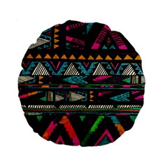Cute Hipster Elephant Backgrounds Standard 15  Premium Round Cushions by BangZart