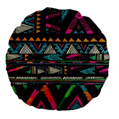 Cute Hipster Elephant Backgrounds Large 18  Premium Round Cushions by BangZart