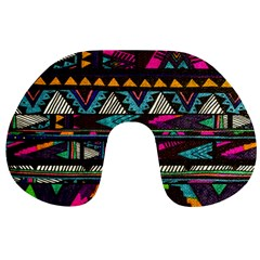 Cute Hipster Elephant Backgrounds Travel Neck Pillows by BangZart