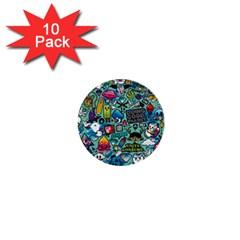 Comics 1  Mini Buttons (10 Pack)  by BangZart