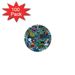 Comics 1  Mini Buttons (100 Pack)  by BangZart