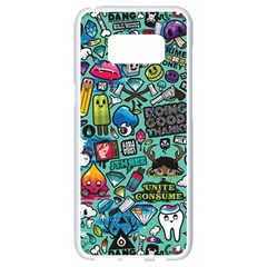 Comics Samsung Galaxy S8 White Seamless Case by BangZart